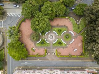 Beautiful aerial view School Buenaventura Corrales (metal building) in Costa Rica