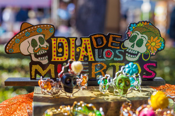 Colorful decorations for Day of the Dead/Dia de los Muertos celebration