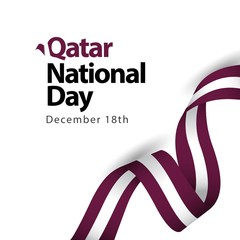 Qatar National Day Vector Template Design Illustration