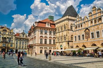 Foto op Plexiglas Panoramafoto s Prag, Altstädter Ring