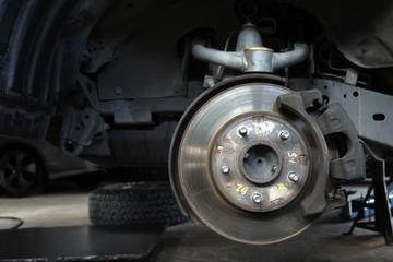 Maintenance front suspension disc brake