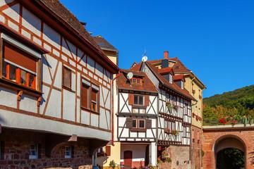 houses in old town of Neckarsteinach, Hessen, Germany