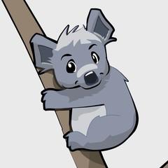 cute cartoon koala character