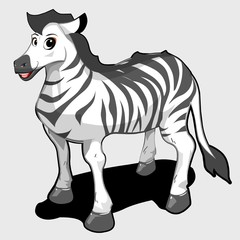 cute cartoon zebra character
