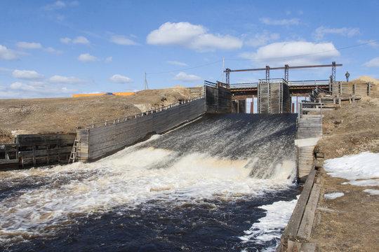 the dam across the river Kazym