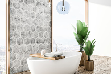 Luxury honeycomb pattern bathroom corner
