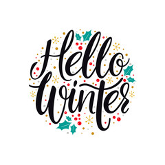 Hello Winter calligraphy