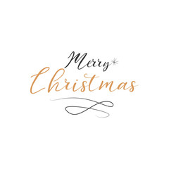 Merry Christmas. Happy New Year with Typography design and Vector logo, emblems with text design can Usable for banners, greeting card