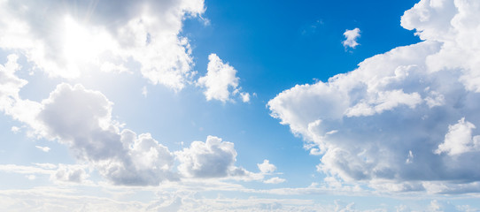 Soft clouds and blue sky