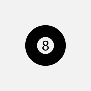 Snooker ball vector icon 8 ball sports and recreation eps10