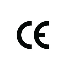 CE marking health safety  environmental protection symbol vector icon