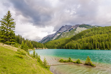 Wall Mural - Nature around Lake of Two Jack in Canadian Roky Mountain near Banff