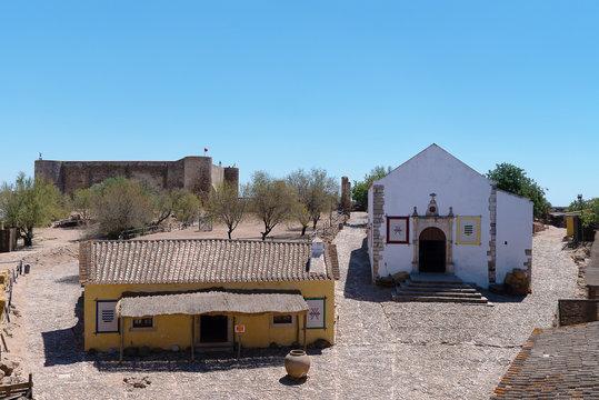 inside the castle of the border town castro marim
