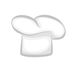 White Chef Cook Hat Realistic Stylish 3D Design