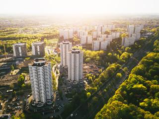 Katowice Osiedle Tysiąclecia z powietrza