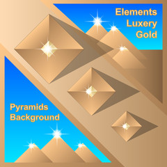 Abstract Egiptian Pyramids Background