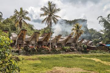 "Sulawesi, Kete Kesu;  Das traditionelle Toraja Dorf   "" Kete Kesu ""   in Toraja Utara."