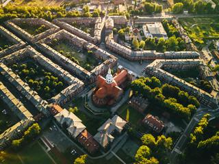 Katowice - Nikiszowiec z powietrza