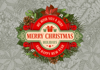 Merry Christmas greeting design