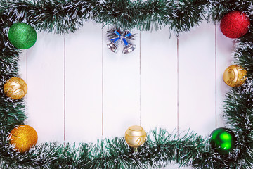 Christmas and New Year holiday background.