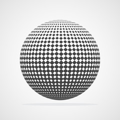 Abstract dotted sphere. Vector illustration.
