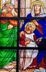 Wall Mural - Stained glass window of the Holy Family