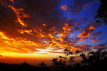 Sunset light over Minca, Colombia, South America