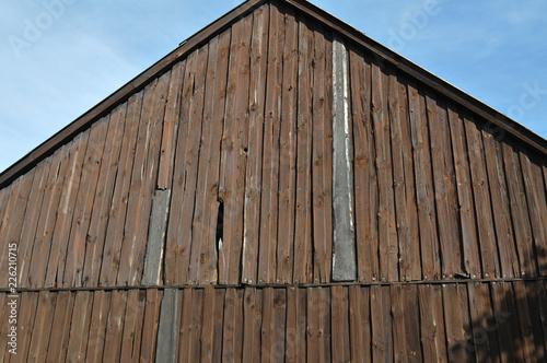 Holzfassade Scheune Haus Hintergrund Vorlage Muster Holz Bretter