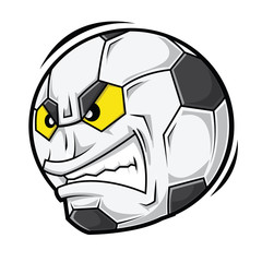 Cartoon Football angry face
