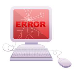 broken computer graphic icon
