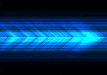 Abstract blue light arrow speed technology direction on black design modern futuristic background vector illustration.
