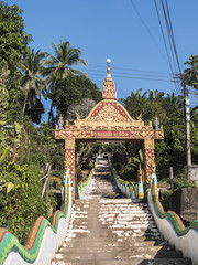 the temple of Houay Xai