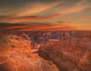Grand canyon,sunset Garnd canyon, Landscape scene of Grand Canyon National Park.