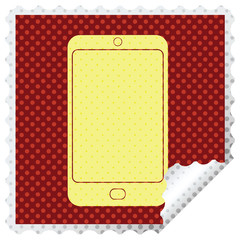 cell phone square peeling sticker