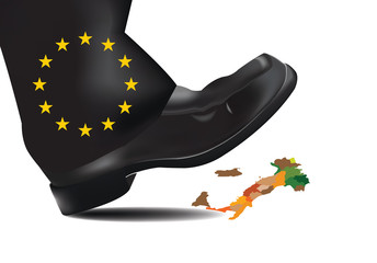piede  europeo schiaccia Italia