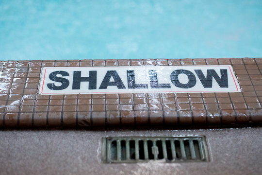 Shallow sign for Pool