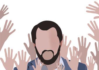 mani che esultano figura umana