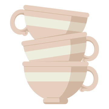 stack of cups graphic icon