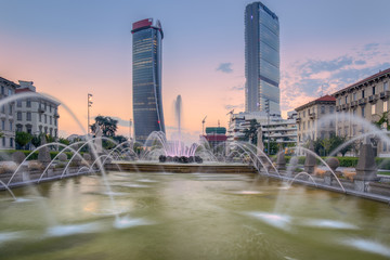 Generali Tower or Hadid Tower, Giulio Cesare Square, Milan, Lombardy, Italy