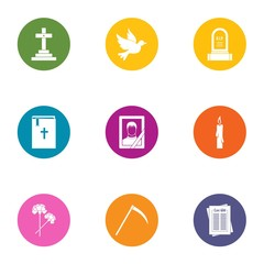 Mors icons set. Flat set of 9 mors vector icons for web isolated on white background