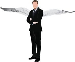 manager persona con le ali
