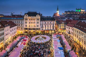 Poster Europe de l Est Weihnachtsmarkt in Bratislava, Slowakei