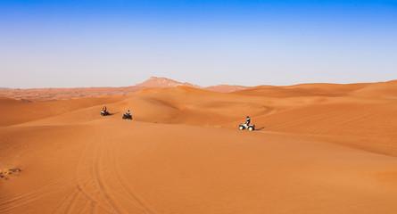 desert safari experience with atv 4x4 vehicles