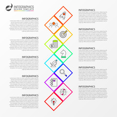 Infographic design template. Creative concept with 10 steps