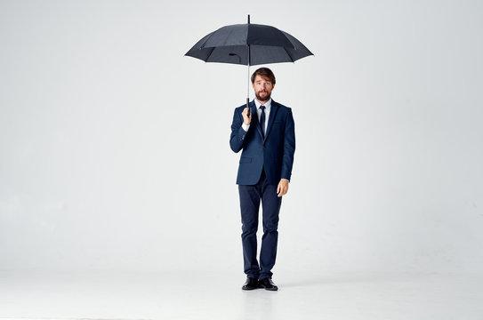 business man with an umbrella