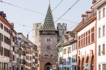 Basel, Spalentor, Altstadt, Stadt, Altstadthäuser, Grossbasel, Stadttor, Basel-Stadt, Stadtrundgang, Stadtmauer, Spalenberg, Schweiz