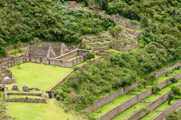 Peru - Choquequirao lost ruins (mini - Machu Picchu), remote, spectacular the Inca ruins near Cuzco