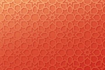 arabic pattern background islamic ornament vector geometric 3d shape texture arabian traditional motif