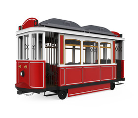 Tram Isolated