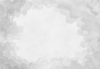 Beautiful grey watercolor background on white paper. For the text, textures, banners, leaflets, posters, logo, design. Hand drawn abstract artwork painting.